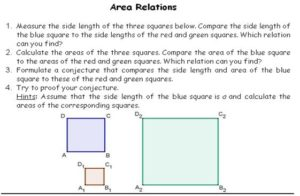 area relations geogebra