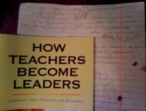 Teacher Leader notes