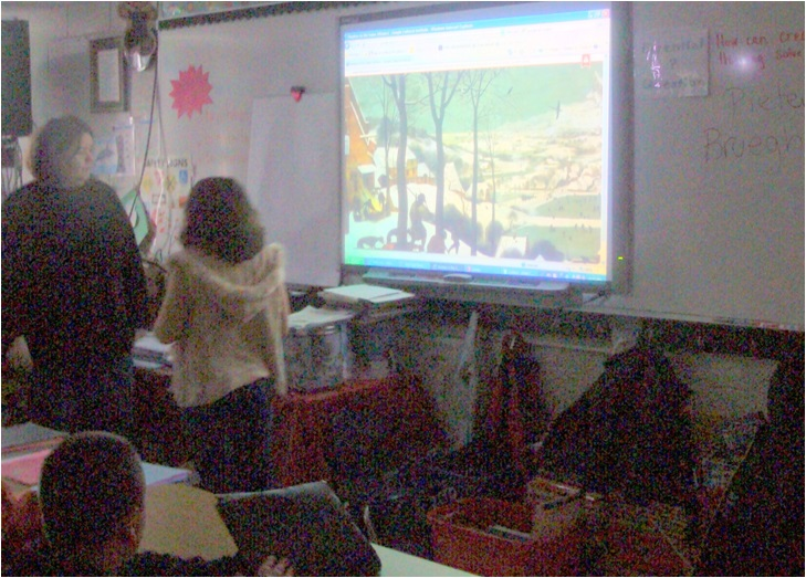 hunters in the snow smartboard
