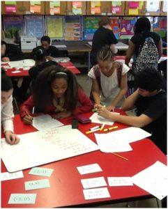 algebra students discussing math