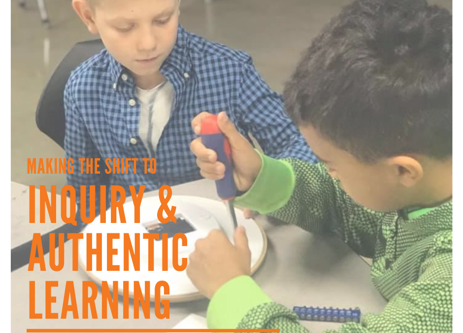 Making the Shift to Inquiry and Authentic Learning